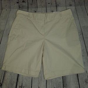 NWT LOFT sz 14 THE RIVIERA curvy fit shorts